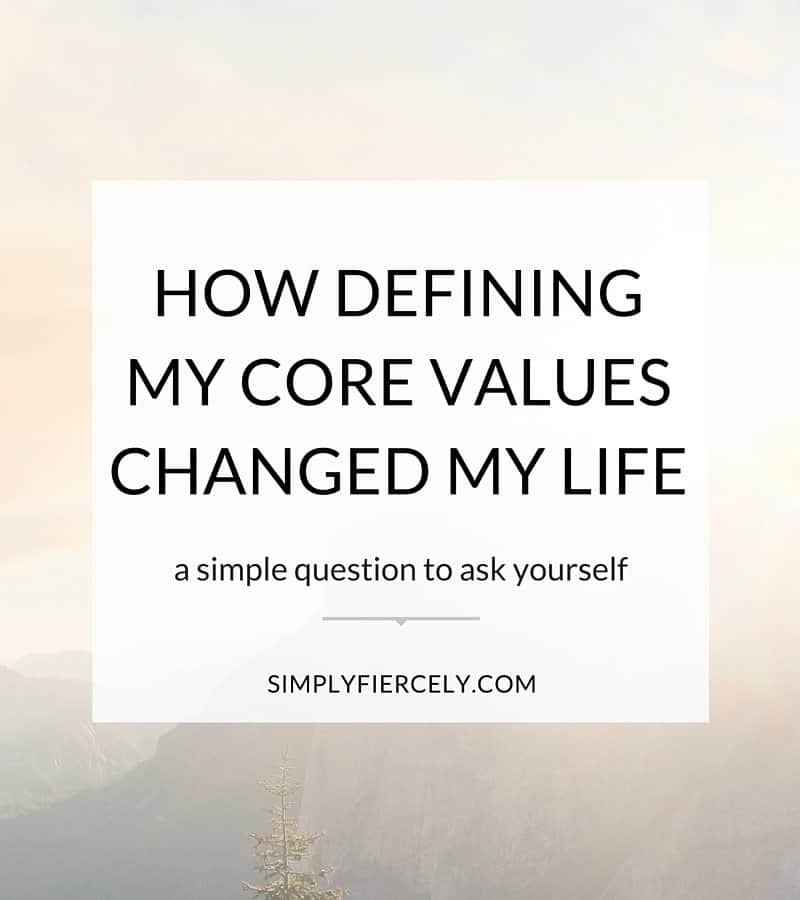 Your values are about making sure what you do on the outside is matches what you heart is saying on the inside. Use your values to plan a life you love.