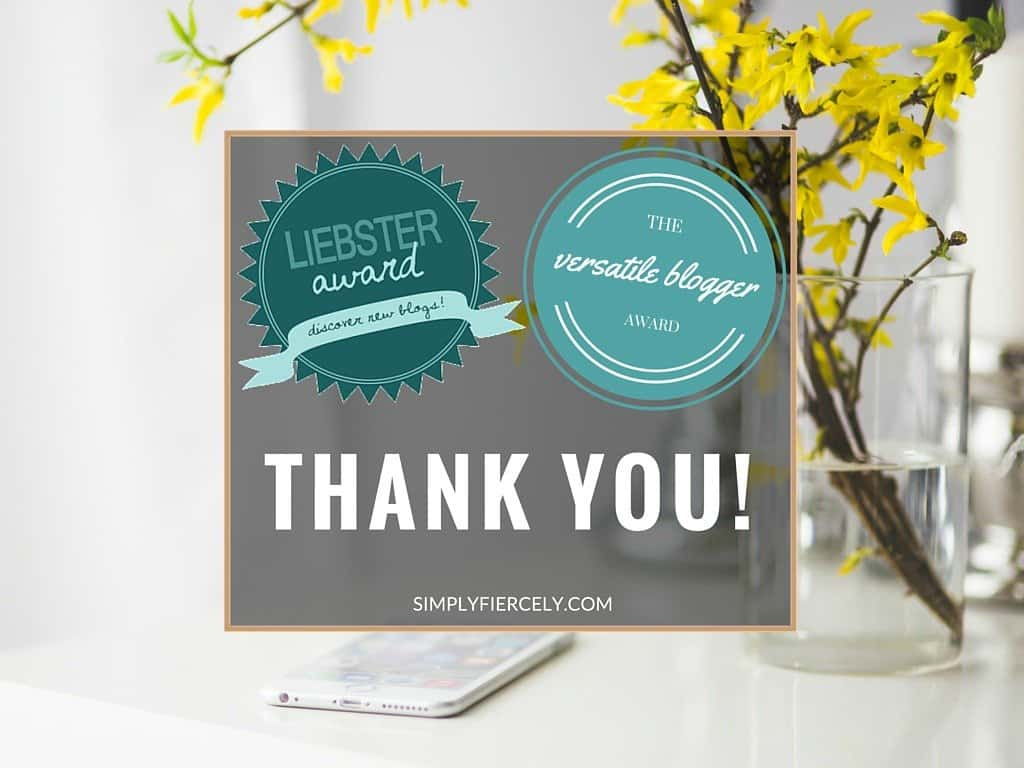 Simply + Fiercely: One month update and Liebster Award