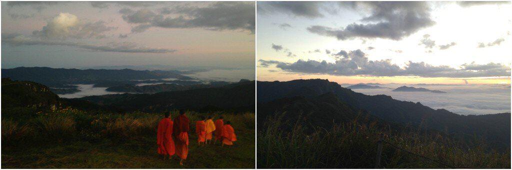 Phu Chi Fa, Thailand, at sunrise.