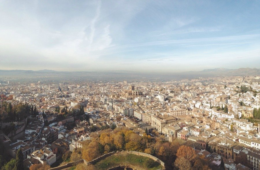 View from the Alcazaba. Click to see more photos + tips for planning your own trip to the Alhambra.