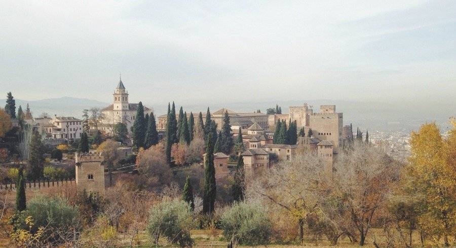 View of the Alhambra from the Generalife Palace.