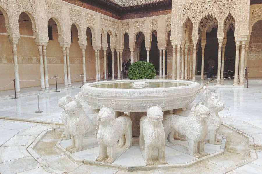 Images from inside the Nasrid Palaces. Click to see more photos + tips for planning your own trip to the Alhambra.