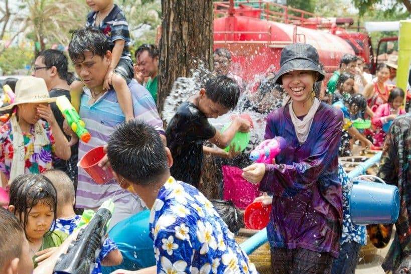 Travel in April and go to Songkran