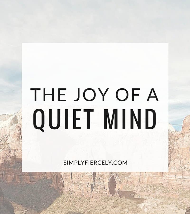 Go outside + indulge in the joy of a quiet mind. #bliss
