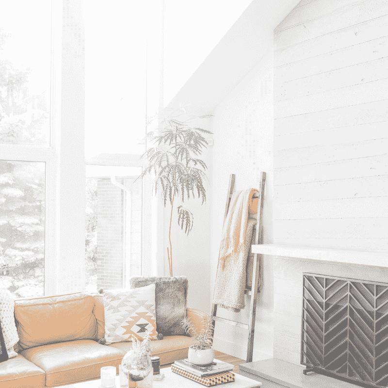 Yellow sofa and minimalist decor