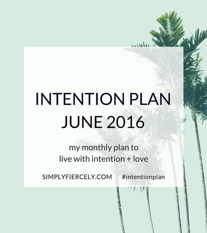 In my June Intention Plan I'm talking surviving vs thriving! ?