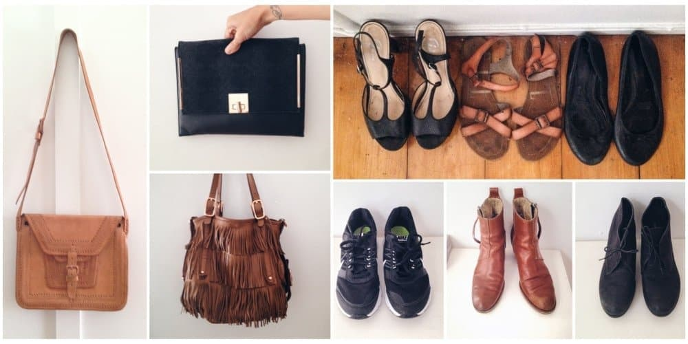 bags and shoes I chose as part of Project 333
