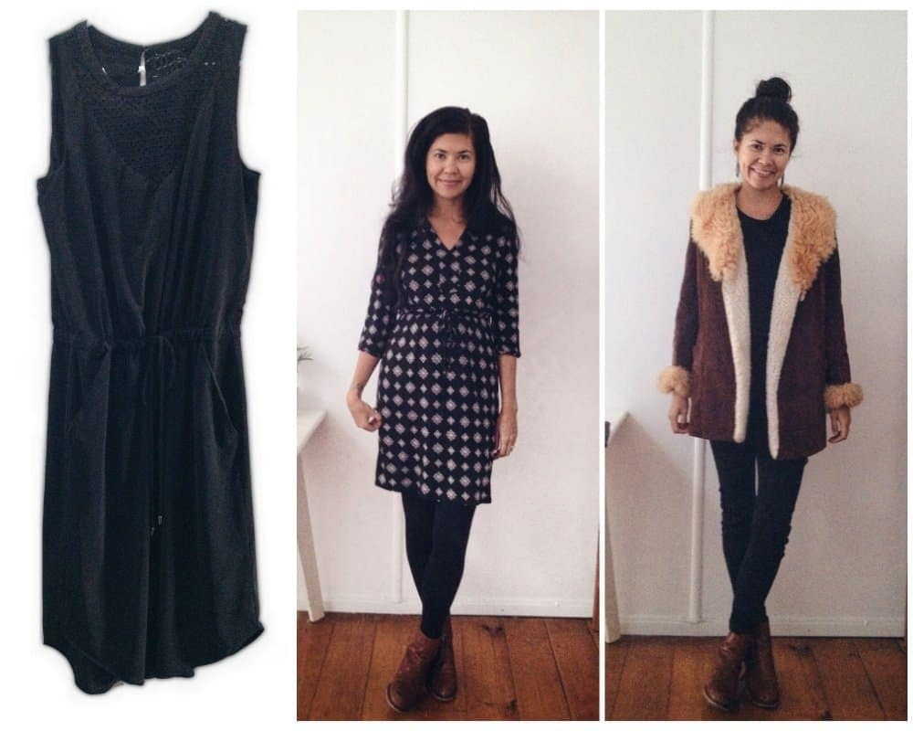 2 dresses and a jacket I chose as part of Project 333