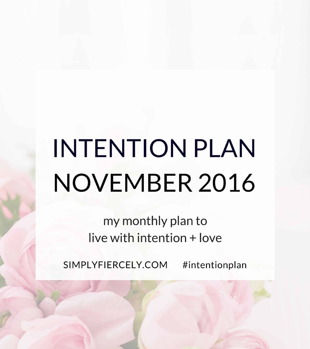 In my latest Intention Plan, I talk about managing expectations and what to do when things to do when things don't go as planned ...