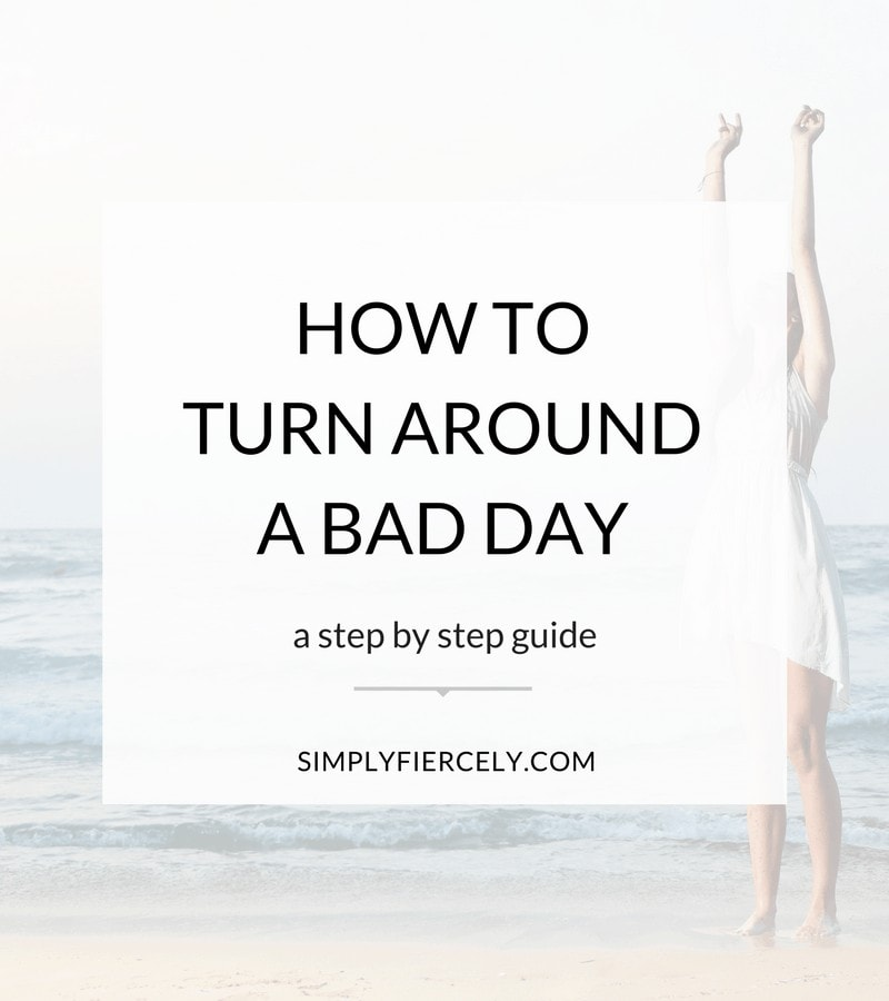 Bad days are inevitable, but how we react is up to us. We can choose to give in to the negative voices in our heads or we can take steps to turn things around.
