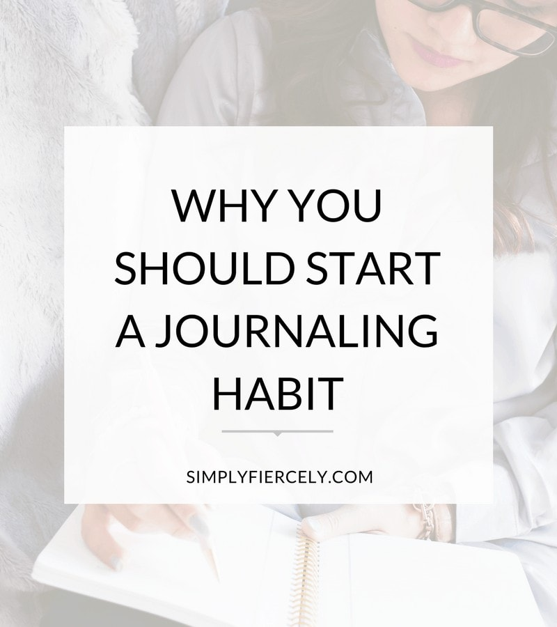 Woman writing and learning how to start journaling.