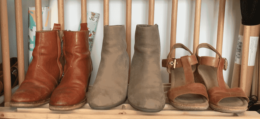 2 pairs of ankle boots and tan brown wedge sandals